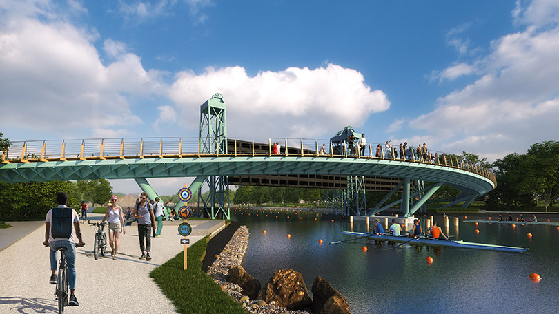 Rendering of what the new bridge over the Erie Canal will look like.